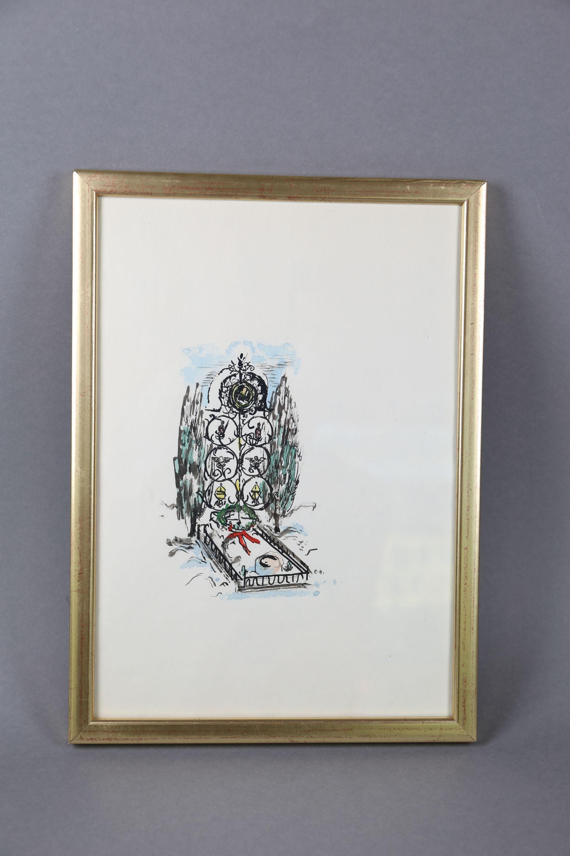 Zeichnung von Ernst Huber