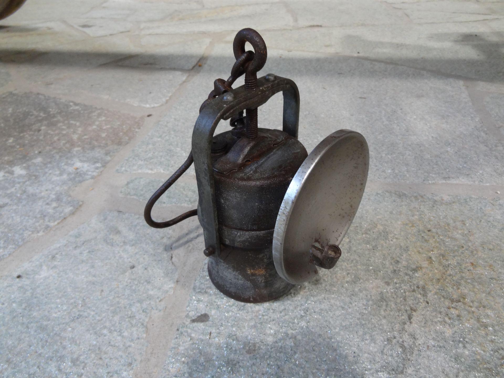 Karbidlampe von
