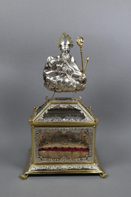 Reliquienkästchen, Blasius-Reliquiar  von Joseph Anton Zwickl/Egidius Hablitschek